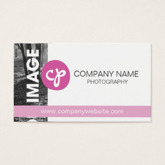 Photography Business Card Pink