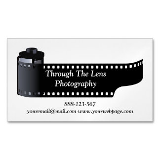 Photography Film Roll Photographer Minimal Magnetic Business Cards