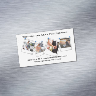 Photography Photographer Minimal Professional Magnetic Business Cards