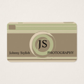 Photography professional rustic retro cover business card