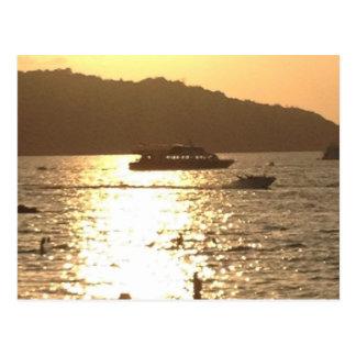 phuket beach thailand postcard