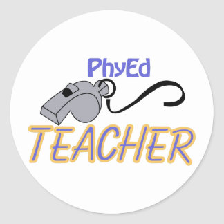 PhyEd Teacher Classic Round Sticker