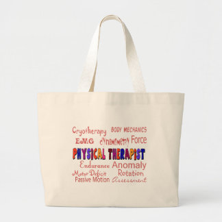 Physical Therapist Terminology Gifts Large Tote Bag