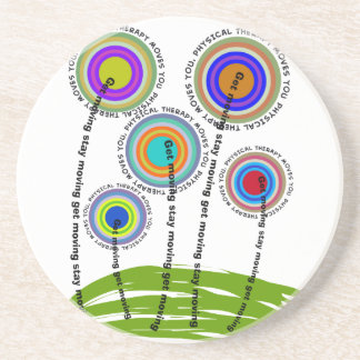 Physical Therapy Artsy Gifts Beverage Coaster