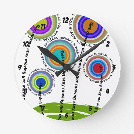 Physical Therapy Artsy Gifts Wallclock