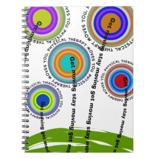 Physical Therapy Artsy Gifts Spiral Notebook