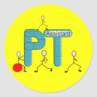 Physical Therapy Assistant Gifts Round Sticker