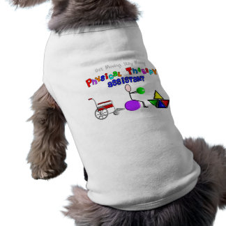 Physical Therapy Assistant Gifts Unique Graphics Sleeveless Dog Shirt