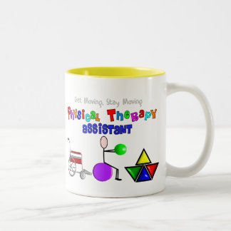 Physical Therapy Assistant Gifts Unique Graphics Two-Tone Mug