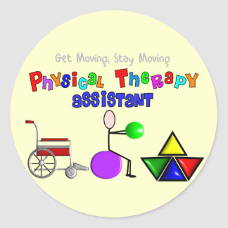 Physical Therapy Assistant Gifts Unique Graphics Round Stickers