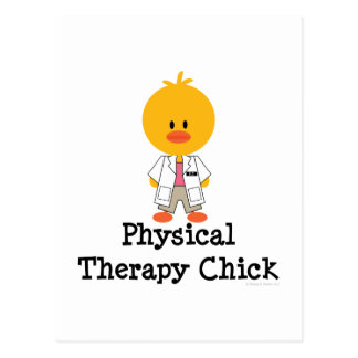 Physical Therapy Chick Postcard