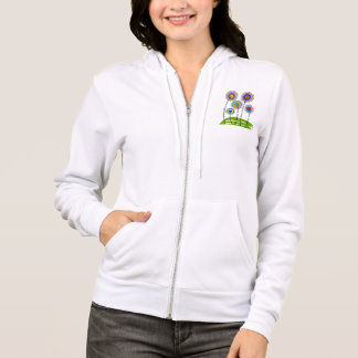 Physical Therapy Zip Hoodie Whimsical Flowers