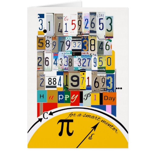 Pi Day Greetings for Mentor, Crunching Numbers Greeting Cards