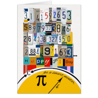 Pi Day Greetings for Mentor, Crunching Numbers Greeting Card