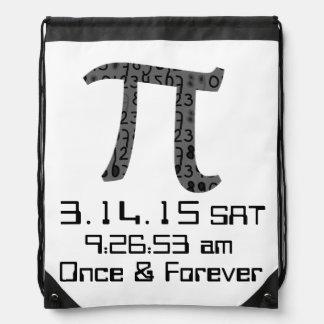 Pi Day March 2015 Custom design Drawstring Bag