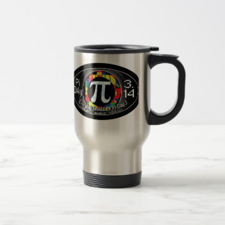 Pi Day Oval Designs Travel Mug