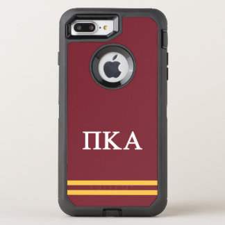 Pi Kappa Alpha   Sport Stripe OtterBox Defender iPhone 8 Plus/7 Plus Case
