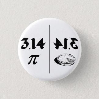 Pi Reversed Pie Mirror 3 Cm Round Badge