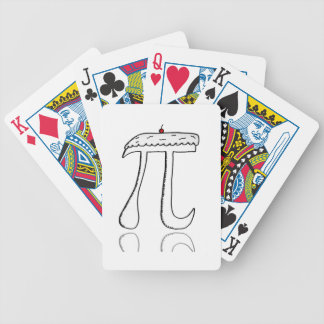 Pi with a cherry on top bicycle playing cards
