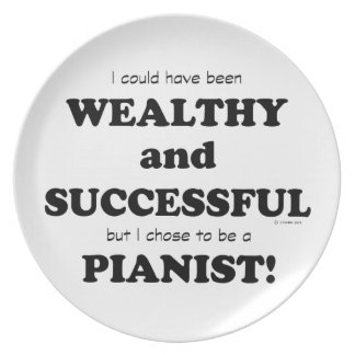 Pianist Wealthy & Successful Party Plate