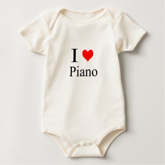piano baby bodysuit