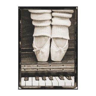 Piano Ballet Duet medium sized Canvas Print