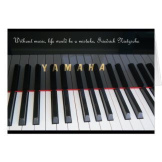 Piano card with Nietzsche quote.