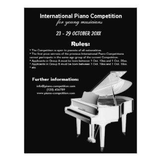 Piano Competition 21.5 Cm X 28 Cm Flyer