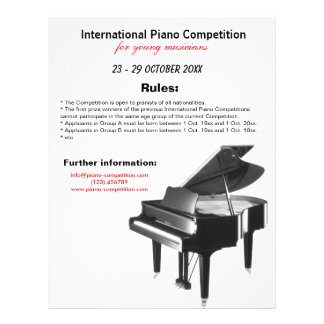 Piano Competition Flyer Design