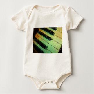 Piano  Electric Green Baby Bodysuit