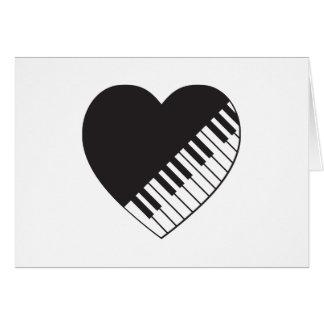 Piano Heart Card