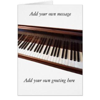 Piano keyboard card