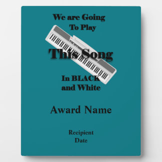 Piano Keyboard Plaque