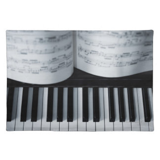 Piano Keys and Music Book Placemat