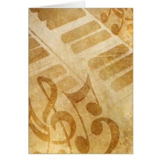 Piano Keys and Music Card
