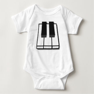 Piano Keys Baby Bodysuit