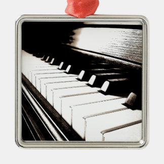 Piano Keys Macro Christmas Ornament
