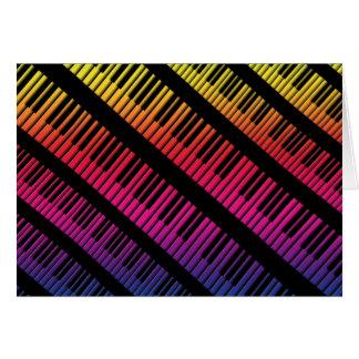 Piano Keys Rainbow Of Color Card