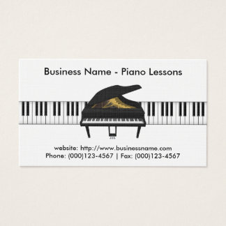 Piano Lessons Business Card: Piano 3D Model Business Card