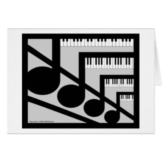 Piano Music Card