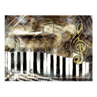 Piano Music Postcard