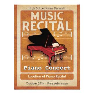 Piano Music Recital 21.5 Cm X 28 Cm Flyer