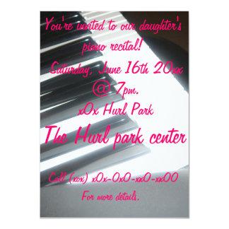 Piano recital 11 cm x 16 cm invitation card