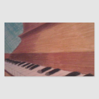 piano rectangular sticker