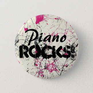 Piano, Rocks! 6 Cm Round Badge