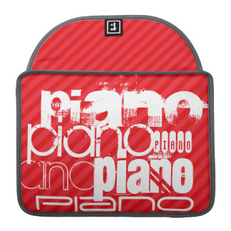 Piano; Scarlet Red Stripes Sleeve For MacBooks