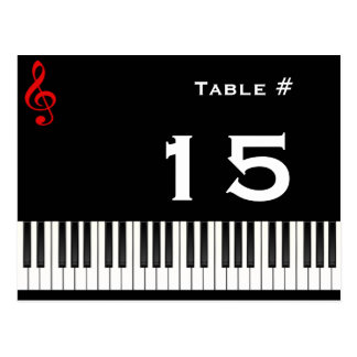 Piano Table Number Card, Table #, 15 Postcard