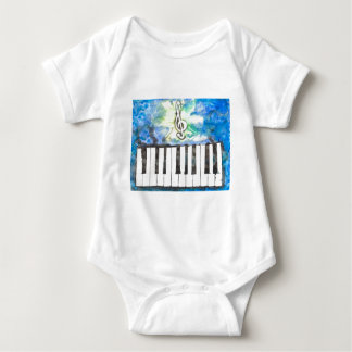Piano Watercolor Baby Bodysuit