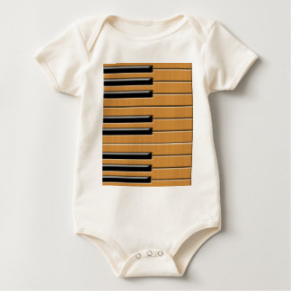 Piano wood baby bodysuit