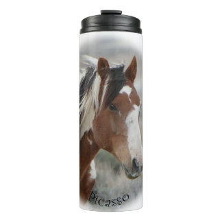 Picasso, Stallion of Sand Wash Basin Thermal Tumbler
